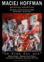 """""""be free for art"""" solo exhibition, UK"""